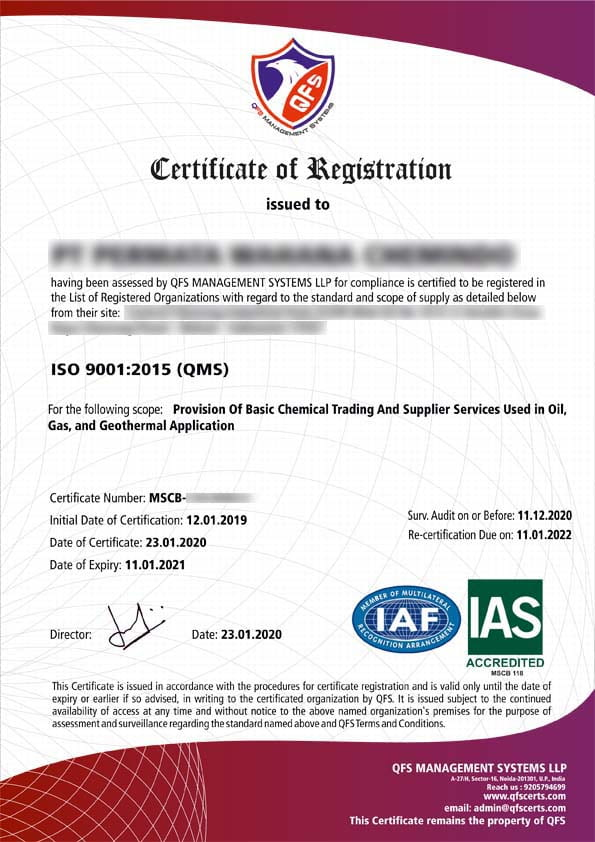 IAF and IAS Accredited